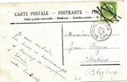 SH 0124. CANTONS DE L' EST.N° 83 Annulation CROIX De St ANDRE(2 X)+ BLEYBERG (MONTZEN) 28 JANV 1909 S/CP V. Bleyberg. TB - 1893-1907 Wapenschild