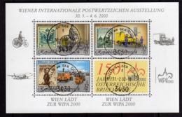 AUSTRIA ÖSTERREICH 2000 WIPA BLOCK SHEET BLOCCO FOGLIETTO BLOC FEUILLET USED USATO OBLITERE' - Blocks & Kleinbögen