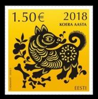 Estonia 2018 Mih. 913 Lunar New Year. Year Of The Dog MNH ** - Estonie
