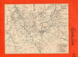 2 Cartes Télégraphique Téléphonique Des Chemins De Fer Dépt 44 LOIRE-INFERIEURet43 Hte-LOI Année 1936 Collée Recto Verso - Europe