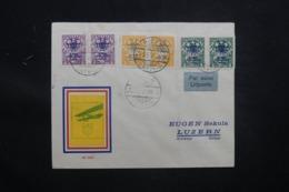LETTONIE - Enveloppe De Riga Pour La Suisse Par Avion En 1928, Affranchissement Plaisant Surchargés - L 43439 - Lettonie