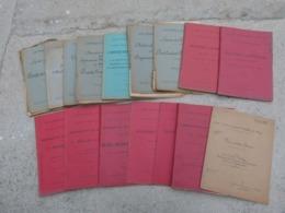 Lot De 16 Livres Manuel Cours D Artillerie Munitions Munition Balistique Theodolite Optique Edition 1917 Tete Fusée Obus - 1914-18