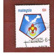 MALESIA (MALAYSIA)  -  SG 117 -   1974  SCOUT JAMBOREE: BADGE         -  USED ° - Malesia (1964-...)
