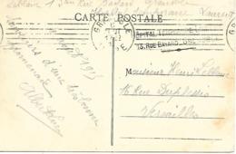 38-cachet Hôpital Temp. Laurent à Grenoble Sur CP De 1915 - Postmark Collection (Covers)