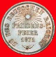 + BADEN:  GERMANY ★ 1 KREUZER 1871 VICTORY OVER FRANCE! Friedrich I (1856-1907) LOW START ★ NO RESERVE! - Kleine Munten & Andere Onderverdelingen