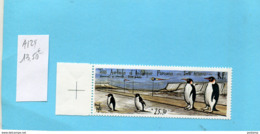 T A A F-timbre N° PA  124 Piste Terre  Et Pingoins-illustré Bernard Buffet-neuf** Sans Ch  Cote 13.90 Eu - Tierras Australes Y Antárticas Francesas (TAAF)
