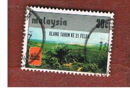 MALESIA (MALAYSIA)  -  SG 166   -   1977  FELDA: OIL PALM SETTLEMENT       -  USED ° - Malesia (1964-...)