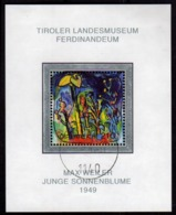 AUSTRIA ÖSTERREICH 2004 TIROLER LANDESMUSEUM PAINTING BLOCK SHEET BLOCCO FOGLIETTO BLOC FEUILLET USED USATO OBLITERE' - Blocks & Kleinbögen