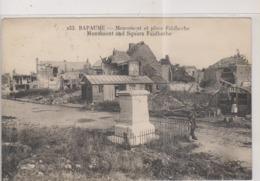 CPA-62-Pas De Calais- BAPAUME Monument Et Place Faidherbe- - Bapaume