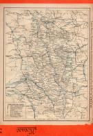 2 Cartes Télégraphique Téléphonique Des Chemins De Fer Dépt 55 MEUSE Et 56 MORBIHAN Année 1936 Collée Recto Verso - Europe