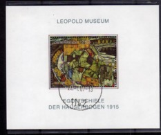 AUSTRIA ÖSTERREICH 2005 LEOPOLD MUSEUM MUSEO PAINTING BLOCK SHEET BLOCCO FOGLIETTO BLOC FEUILLET USED USATO OBLITERE' - Blocks & Kleinbögen