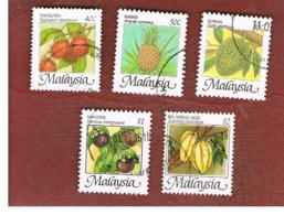 MALESIA (MALAYSIA)  -  SG 344.348   -   1986  FRUITS     -  USED ° - Malesia (1964-...)