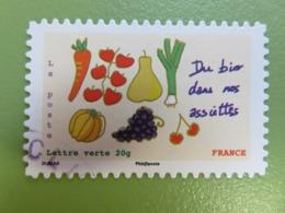 Timbre France YT 967 AA - Environnement - Du Bio Dans Nos Assiettes - 2014 - Autoadesivi