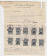 """Dt.Reich 1923 Dokument Mit Stempelmarken  """" Beglaubigung Der Urschrift """" Durch Notar In Reichenbach I.V. - Deutschland"""