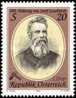 AUSTRIA 1995 - JOSEPH LOSCHMIDT - FISICO Y QUIMICO - YVERT Nº 1992** - Physics