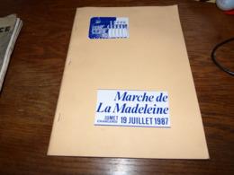 Livre Marche De La Madeleine Jumet 1987 38p Recto Descriptif Cortège Histoire Etc Etc - Cultuur