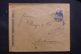 ALLEMAGNE - Enveloppe Commerciale De Hamburg Pour Anvers Avec Cachet De Censure D'Anvers , Affranch. Perforé - L 43449 - Allemagne