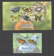 A769 2011 LIBERIA BUTTERFLIES OF WEST AFRICA #5963-68 MICHEL 18 EURO KB+BL MNH - Mariposas