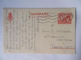 Danemark / Danmark - Entier Postal 25 Ore Circulé Entre Aarhus Et Paris Vers 1945 - Postal Stationery