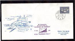 Timbre Groenland Sur Enveloppe  Du 16.9.86 à Scoresbysund.Grand Cachet Illustré Paul Emile Victor. - Zonder Classificatie