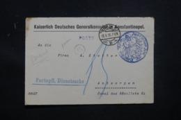 ALLEMAGNE - Enveloppe ( Devant ) Du Consulat De Constantinople à Berlin Pour Anvers En 1918 - L 43450 - Cartas