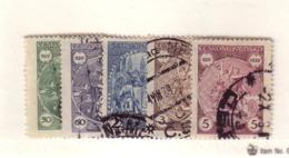 TCHECOSLOVAQUIE 1929 SAINT WENCESLAS  YVERT N°258/62  OBLITERE - Used Stamps