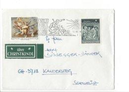 22514 - Christkindl 1988 Cover Pour Kandersteg 13.12.1988 + Vignette - Weihnachten