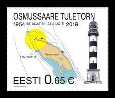 Estonia 2019 Mih. 950 Osmussaare Lighthouse MNH ** - Estland