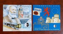 2 Feuillets CNEP N° 38 Et 39 -nantes 2003 Et Salon D'autonne 2003 - CNEP