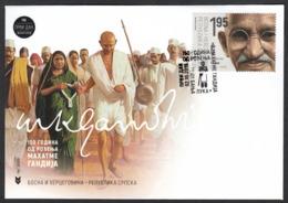 Bosnia Serbia 2019 150 Years Birth Of Mahatma Gandhi Famous People India FDC - Mahatma Gandhi