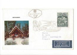 22519 - Christkindl 1967 Cover Pour Gampels 27.11.1967 + Vignette - Noël