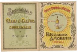 CARTOLINA POSTALE CARTE POSTALE OLIO DI OLIVA RICCARDO AMORETTI ONEGLIA - Pubblicitari