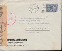 Zensur Oberkommando Der Wehrmacht F Auf Dänemark-Brief KOPENHAGEN 7.3.1942 - Timbres