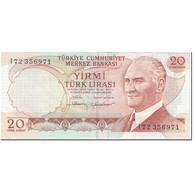 Billet, Turquie, 20 Lira, 1974, Old Date 1970-10-14, KM:187b, TTB - Turchia