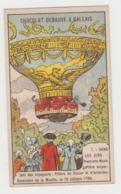 AB003 - CHROMO CHOCOLAT DEBAUVE & GALLAIS - Dans Les Airs - Première Montgolfière Emportant Des Voyageurs - Chocolat