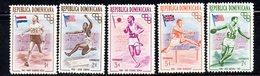 APR2022 - REPUBBLICA DOMINICANA 1957 , Serie Yvert N.  444/448  ***  MNH (2380A)  Olimpiadi Melbourne - Repubblica Domenicana
