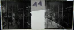 NANTES Vers 1900 :  Infirmerie Et Blessés, Manoeuvres, En Gare De Nantes ? Plaque Verre Stéréoscopique, Positif. - Diapositiva Su Vetro