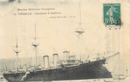"""BATEAUX DE GUERRE Bateau   """" Cécille  """" Croiseur à Batterie   2scans - Guerra"""