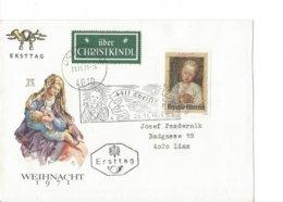 22524- Christkindl 1971 Cover Pour Linz 26.11.1971 Weihnacht 1971 - Noël