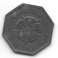 *notgeld Lippe 10  Pfennig 1917 Zn   F 299.2a - [ 2] 1871-1918 : Imperio Alemán