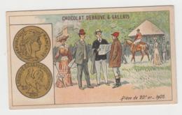 AB013 - CHROMO CHOCOLAT DEBAUVE & GALLAIS - Pièce De 20 Francs Or - 1905 - Chocolat