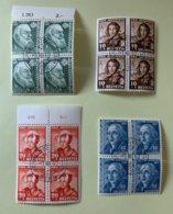 8997 - Pro Juventute 1942 Blocs De 4 - Used Stamps