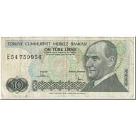 Billet, Turquie, 10 Lira, 1979, Old Date 1970-10-14, KM:193a, B - Turchia