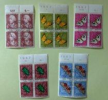 9000 - Pro Juventute 1957 Blocs De 4 - Used Stamps