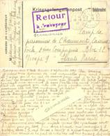GUERRE 39-45  CP MONTPON S/L'ISLE DORDOGNE -> CAMP DE PRISONNIERS DE CHAUMONT CASERNE FOCH 2e Cie BLOC 12  + RETOUR - Storia Postale