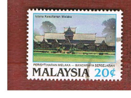 MALESIA (MALAYSIA)  -  SG 407  -   1989  MALACCA: SULTAN PALACE  -  USED ° - Malesia (1964-...)