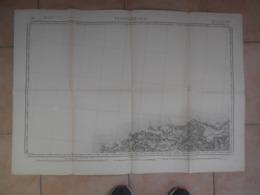 99Sv  Carte Géographique état Major Litho De 1850 PlouguerneauGuisseny Trollez Plouider Kerlouan - Carte Geographique