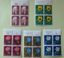 9003 - Pro Juventute 1958 Blocs De 4 - Used Stamps