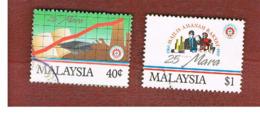 MALESIA (MALAYSIA)  -  SG 455.456  -   1991  MARA ANNIVERSARY  -  USED ° - Malesia (1964-...)