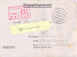 GUERRE 39-45 CORRESPONDANCE PRISONNIER DE GUERRE Français Au STALAG XVII B /213 Krems-Gneixendorf Du 10.10.40 - Marcophilie (Lettres)